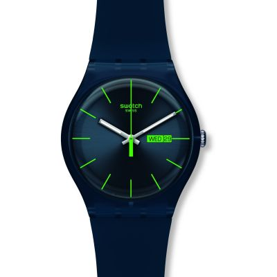 Unisex Swatch Blue Rebel Watch SUON700
