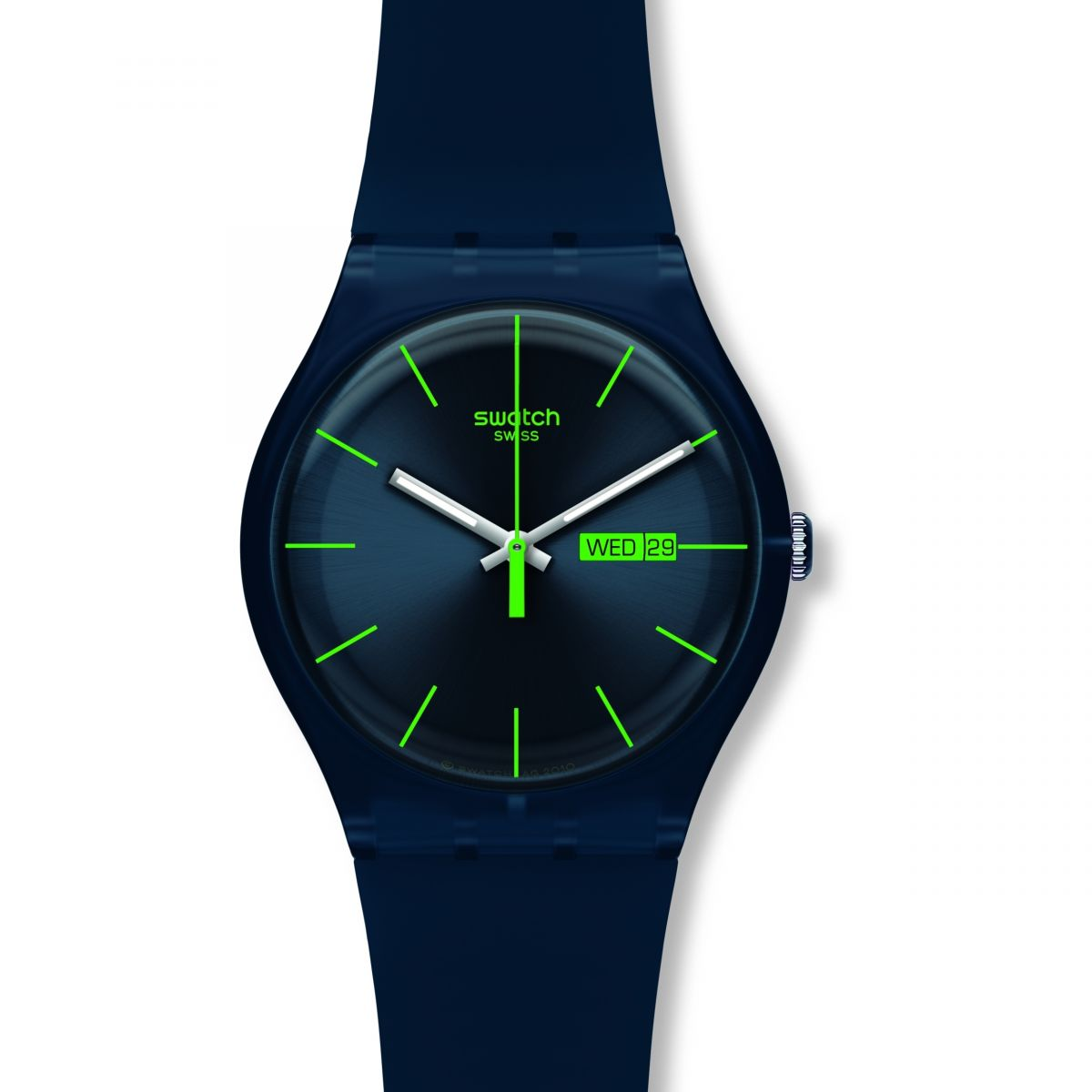 Unisex Swatch Blue Rebel Watch (SUON700)