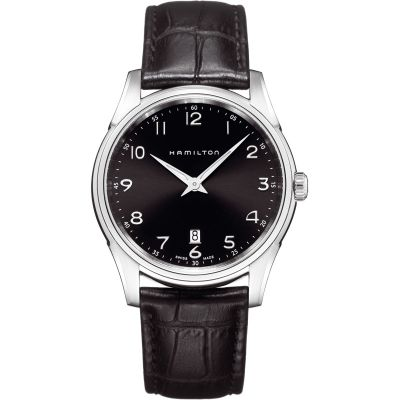 Hamilton Jazzmaster Thinline Herrenuhr in Schwarz H38511733
