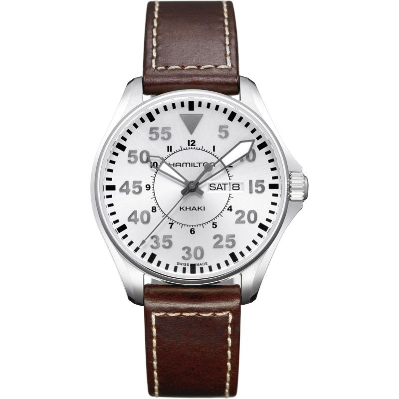 Mens Hamilton Khaki Pilot Quartz 42mm Watch H64611555