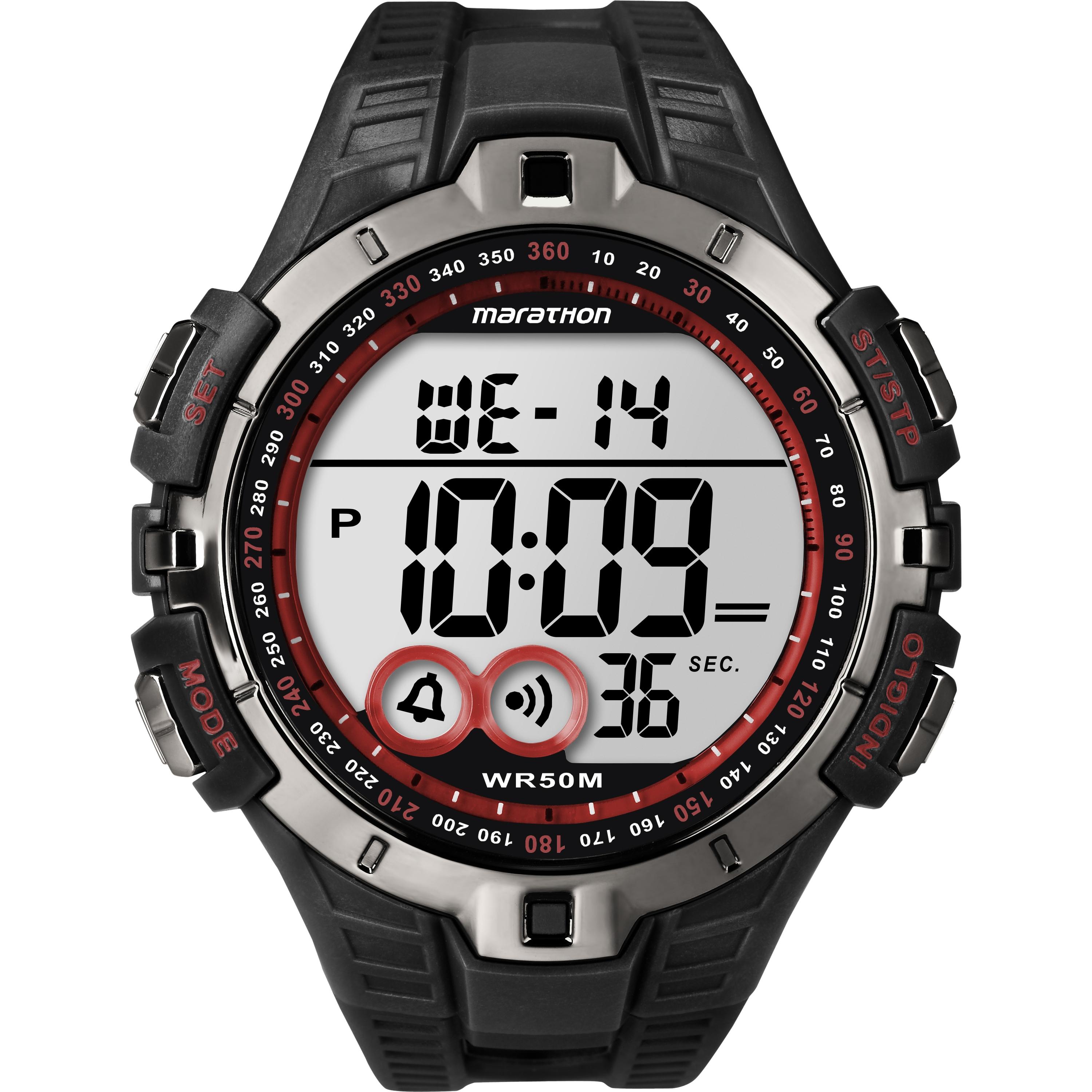 Gents Timex Marathon Alarm Chronograph Watch T5k423 Watchshop