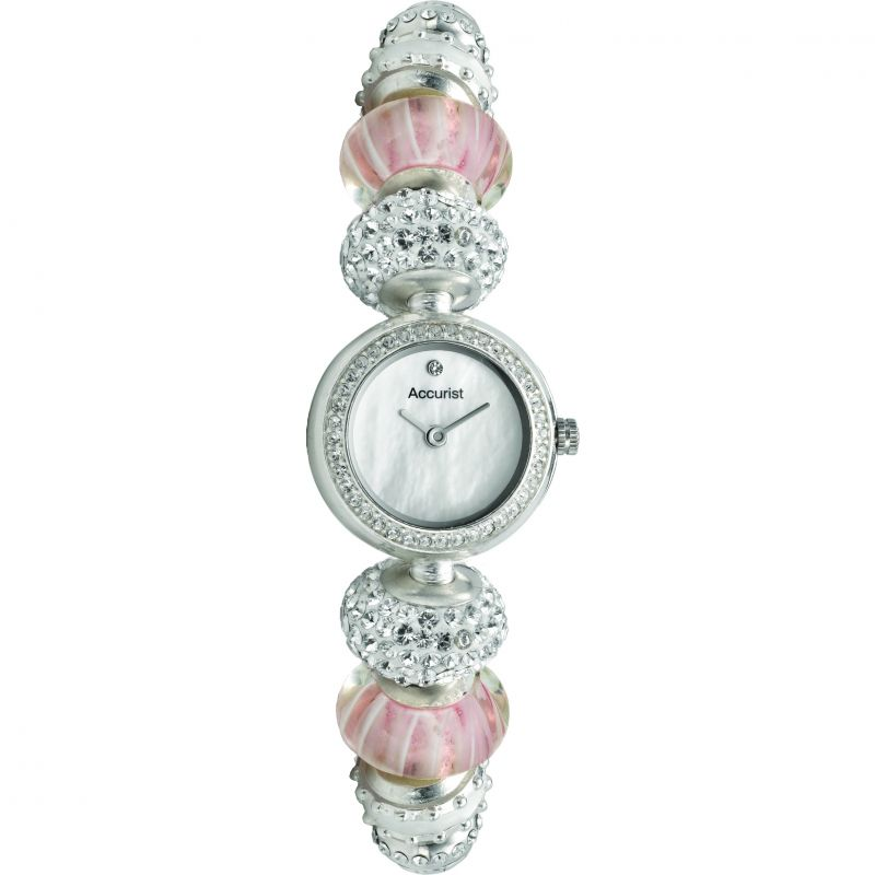 Ladies Accurist Charmed Pretty In Pink Watch