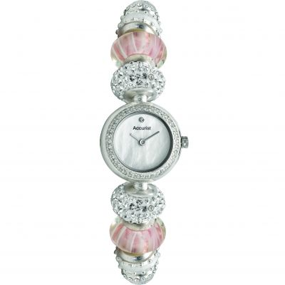 Ladies Accurist Charmed Pretty In Pink Watch LB1602P