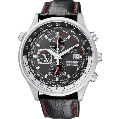 Citizen Red Arrows World Time Herrenchronograph in Schwarz CA0080-03E