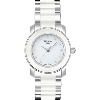 Ladies Tissot Cera Diamond Watch T0642102201600