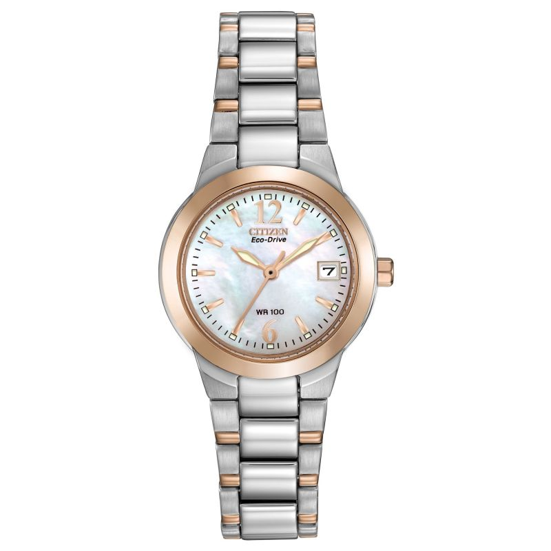 Ladies Citizen Eco-drive Ladies Wr100 Stainless Steel Watch EW1676-52D