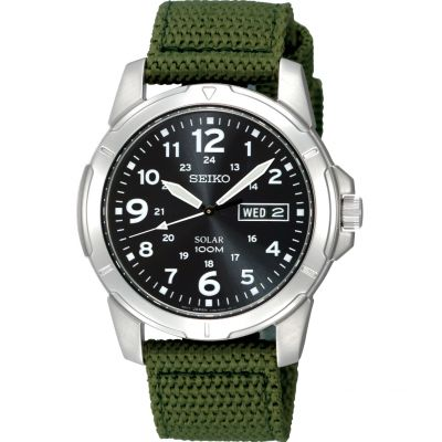 Mens Seiko Solar Powered Watch SNE095P2