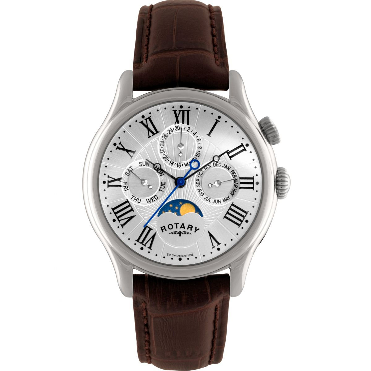 Cheap Smart Home Products Gents Rotary Moonphase Watch Gs02838 01 Watchshop Com