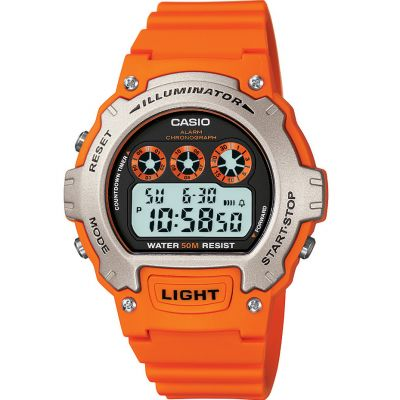 Casio Sports Unisexkronograf Orange W-214H-4AVEF
