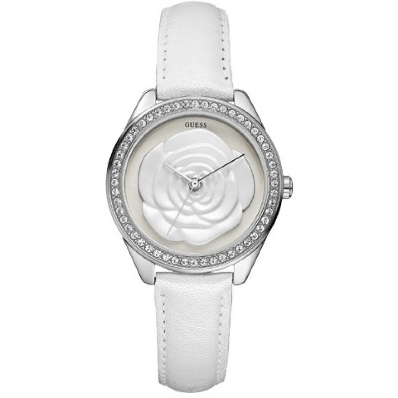 Ladies Guess Rosette Watch W75043L1