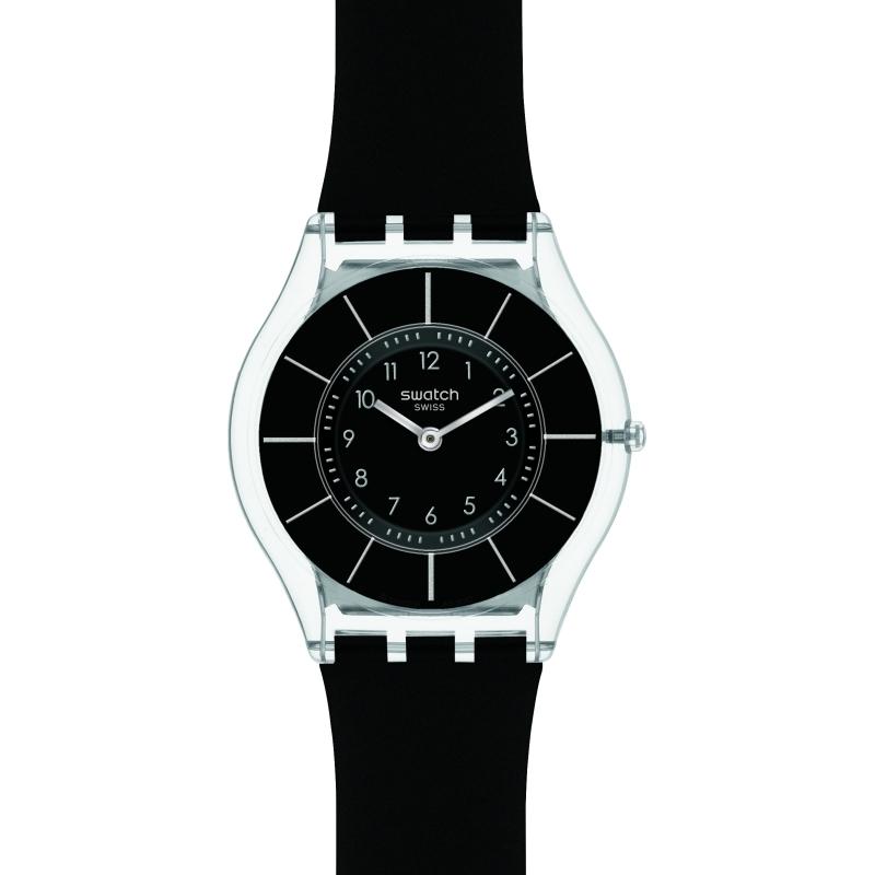 13da64b5c6a6 Unisex Swatch Skins Black Classiness Watch (SFK361)