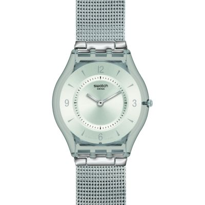 Montre Unisexe Swatch Skins Metal Knit SFM118M