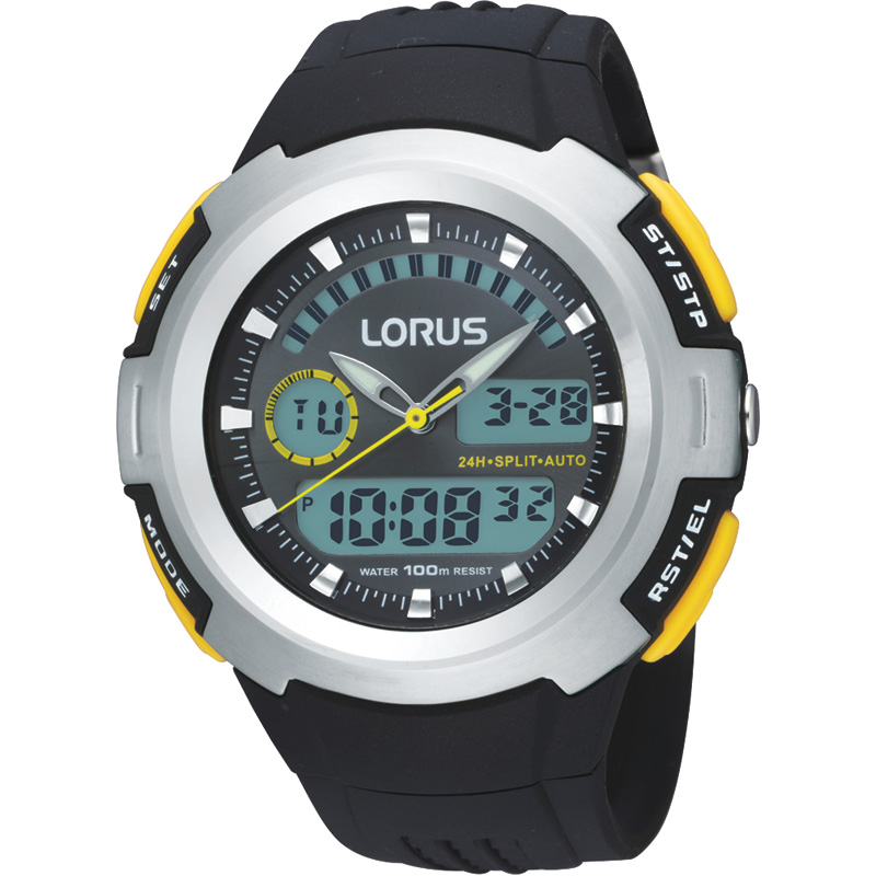 Gents Lorus Alarm Chronograph Watch R2323dx9 Watchshop