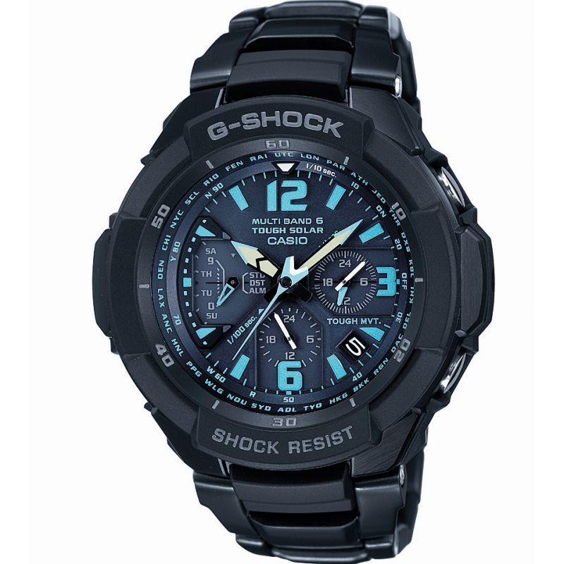 Mens Casio G-Shock Gravity Defier Alarm Chronograph Radio Controlled Watch GW-3000BD-1AER