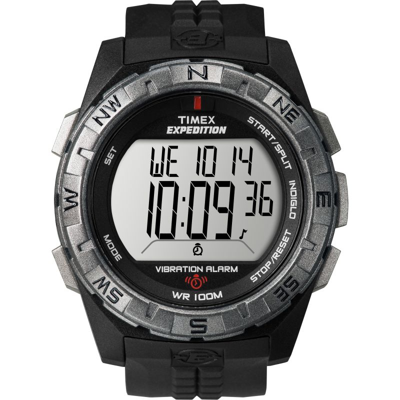Mens Timex Indiglo Expedition Vibration Alarm Chronograph Watch T49851