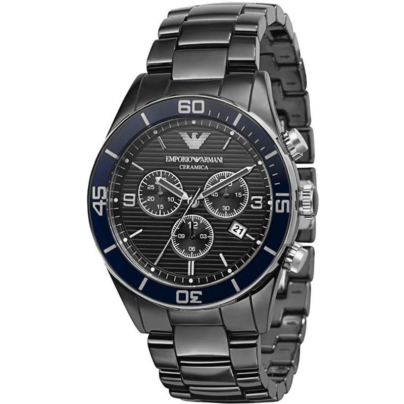 Mens Emporio Armani Ceramic Chronograph Watch AR1429