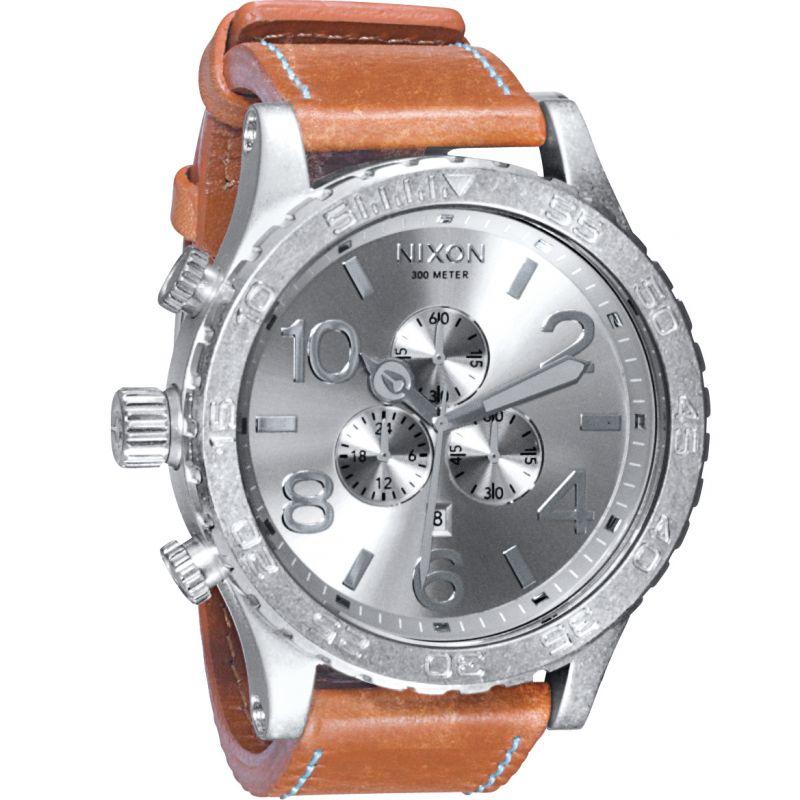 Mens Nixon The 51-30 Chrono Leather Chronograph Watch