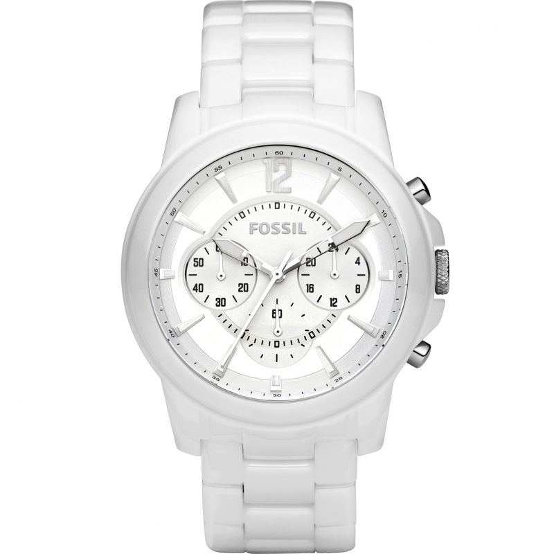 Mens Fossil Ceramic Chronograph Watch CE5012