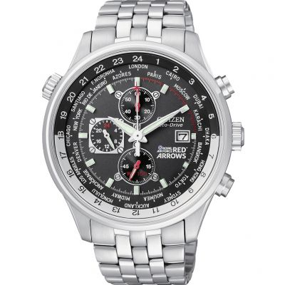 Citizen Red Arrows World Time Herrenchronograph in Silber CA0080-54E
