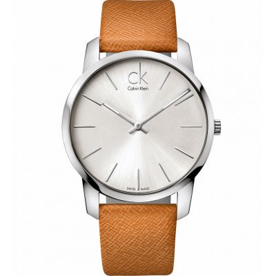 Calvin Klein City Herrenuhr in Braun K2G21138