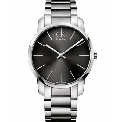 Calvin Klein City Herrenuhr in Silber K2G21161