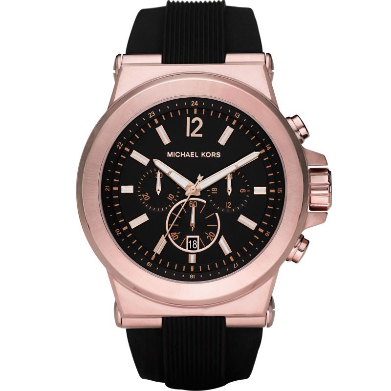 Details about Band New Michael Kors MK8184 45mm Case Dylan Chronograph Black Dial Men's Watch