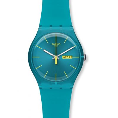 Swatch Originals New Gent Turquoise Rebel Unisexuhr in Blau SUOL700