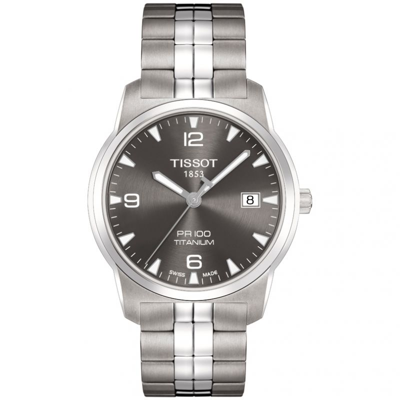 Mens Tissot PR100 Titanium Watch T0494104406700