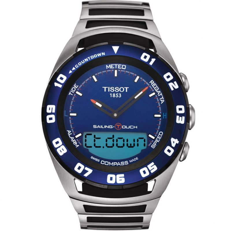 Mens Tissot Sailing Touch Alarm Chronograph Watch T0564202104100