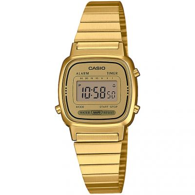 Casio Classic Collection Damenchronograph in Gold LA670WEGA-9EF