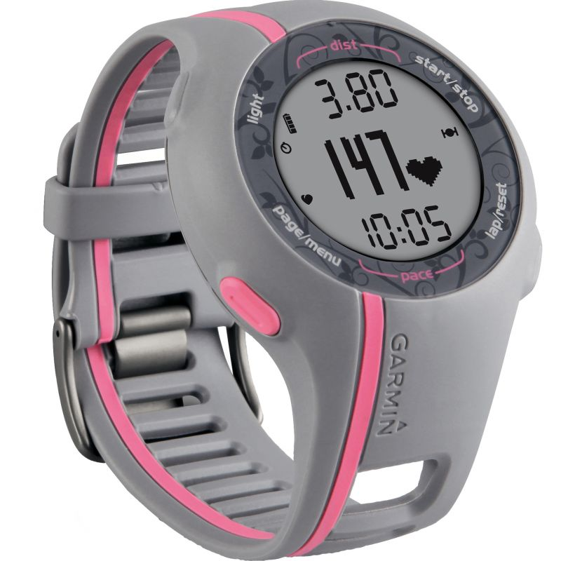 Ladies Garmin Forerunner 110 GPS Heart Rate Monitor Alarm Chronograph Watch 010-00863-12