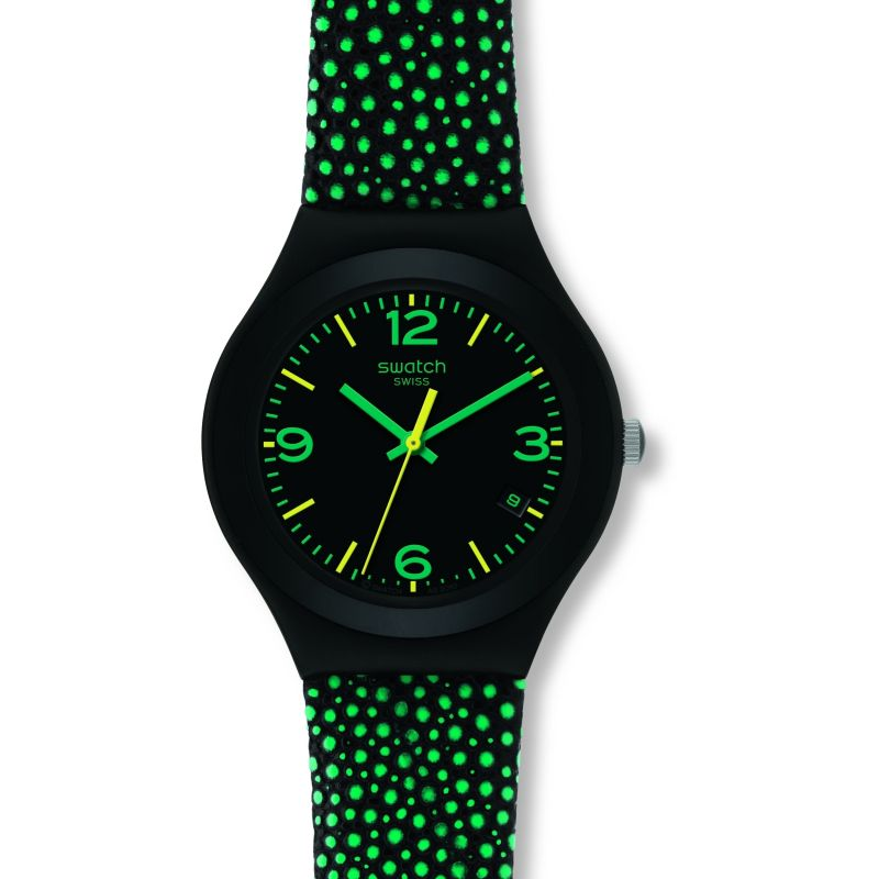 Ladies Swatch Green Drops Watch YGB4003