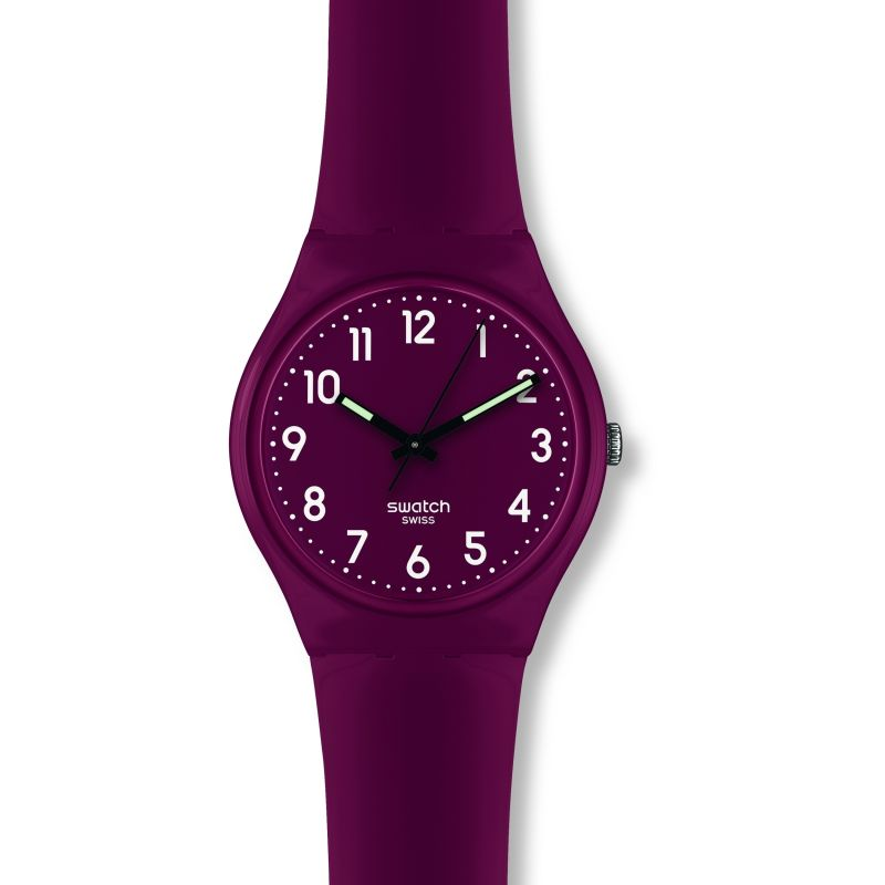 Unisex Swatch Shiny Maroon Watch GR158