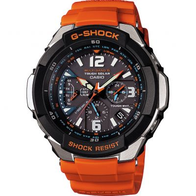 Mens Casio G-Shock Gravity Defier Alarm Chronograph Radio Controlled Watch GW-3000M-4AER