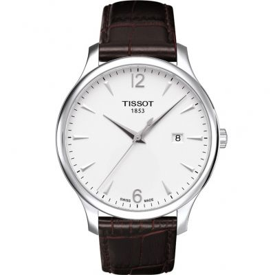 Tissot T-Classic Tradition Herrenuhr in Braun T0636101603700