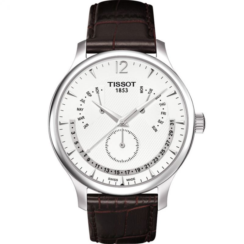 Mens Tissot Tradition Perpetual Calendar Watch T0636371603700