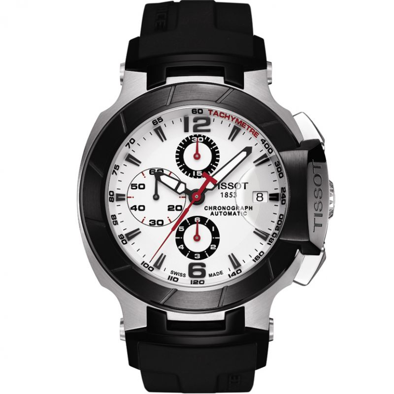 Mens Tissot T-Race 2011 Automatic Chronograph Watch T0484272703700