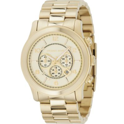 Michael Kors Runway Herrenchronograph in Gold MK8077