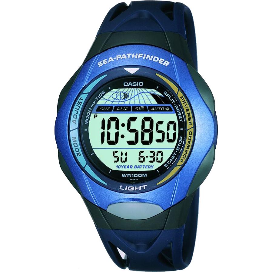 gents casio sea pathfinder alarm chronograph watch sps 300c 2ver rh  watchshop com Casio Protrek Manual Casio Sea Pathfinder SPF 51