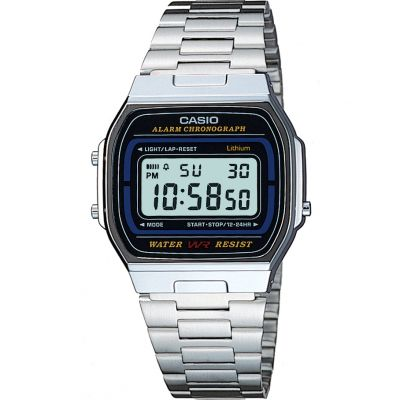 Casio Classic Unisexchronograph in Silber A164WA-1VES