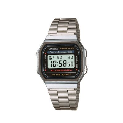 Casio Classic Unisexchronograph in Silber A168WA-1YES