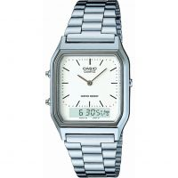 Mens Casio Classic Alarm Chronograph Watch AQ-230A-7DMQYES