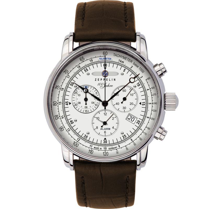Mens Zeppelin 100 Jahre Alarm Chronograph Watch