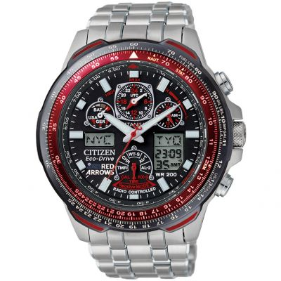 Mens Citizen Skyhawk A-T Red Arrows Titanium Alarm Chronograph Radio Controlled Watch JY0110-55E