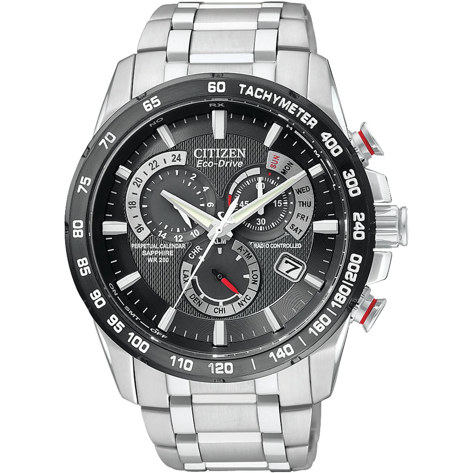 e7b97638e Mens Citizen Chrono Perpetual A-T Alarm Chronograph Radio Controlled Watch  AT4008-51E