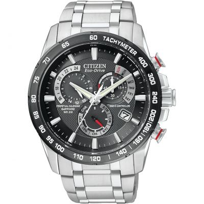 Citizen Chrono Perpetual A-T Herrkronograf Silver AT4008-51E