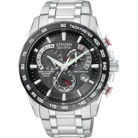 Mens Citizen Chrono Perpetual A-T Alarm Chronograph Radio Controlled Watch AT4008-51E