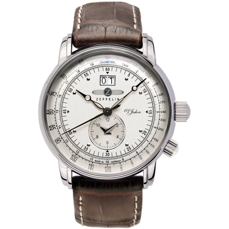 Mens Zeppelin 100 Jahre Dual Time Watch