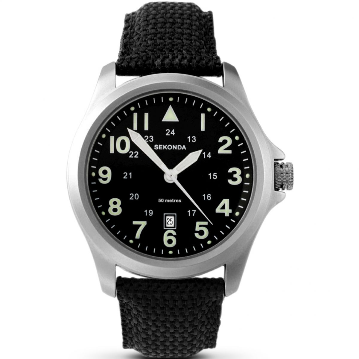 img products leather strap watch aviator watches silvermans
