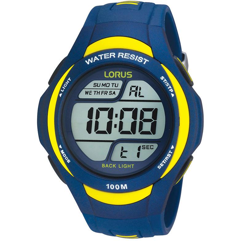 Gents Lorus Alarm Chronograph Watch R2339ex9 Watchshop
